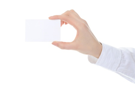 card blank in a hand Stock Photo - 8889267