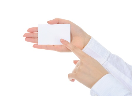 card blank in a hand photo