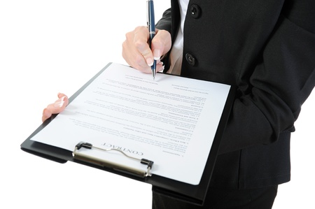 legal contract: clipboard Stock Photo