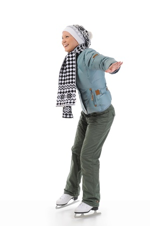 Girl with skates Stock Photo - 8889359