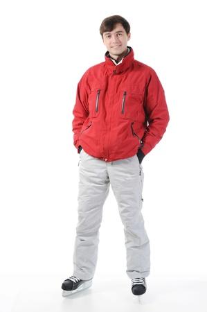 man with skates photo