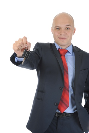 Businessman gives the keys to the car Stock Photo - 8891776