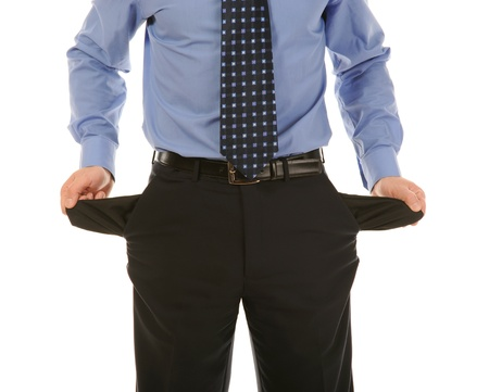 preoccupation: man with empty pockets