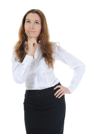 Portrait of a young  businesswoman. Stock Photo - 8891399