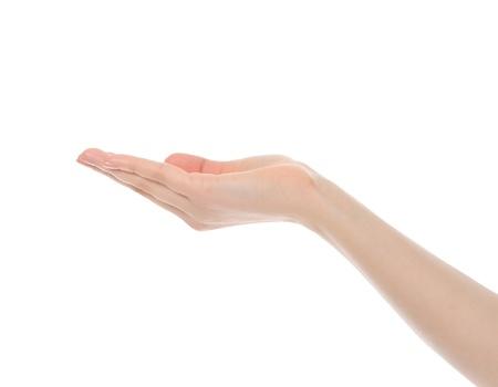 hand business card: tenuto in mano umana.