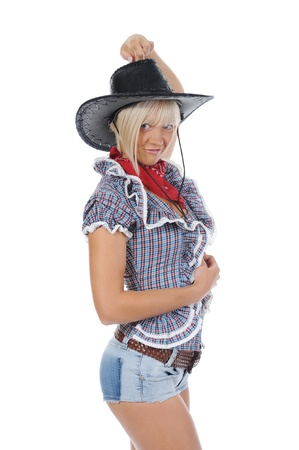 Young beauti cowgirl. photo