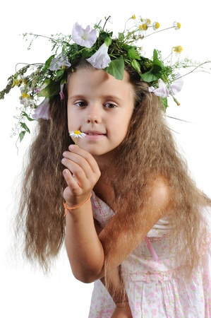 girl with a wreath Stock Photo - 8891989