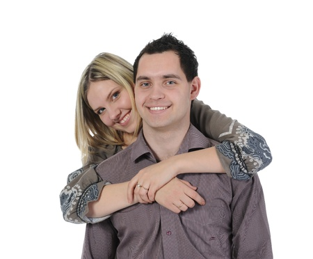 portrait of a joyful young couple photo