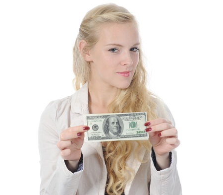 woman with money Stock Photo - 8892014