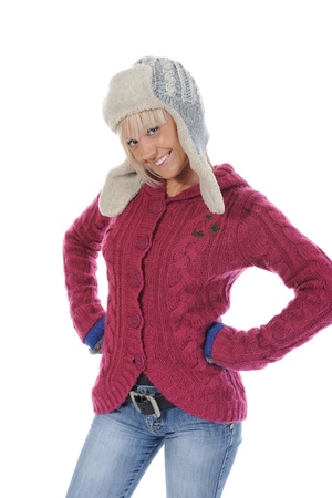 woman in winter style photo
