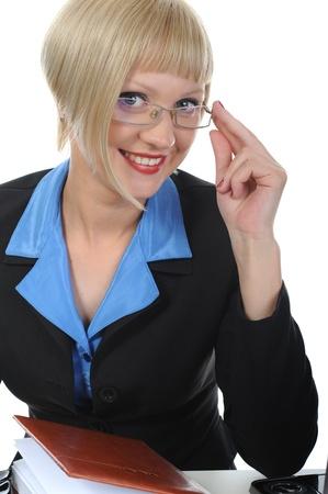 Beautiful office worker. Stock Photo - 8892679