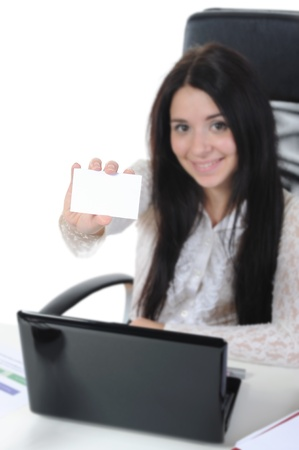 woman with laptop Stock Photo - 8892008