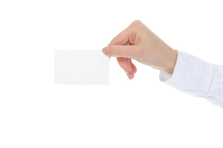 card blank in a hand Stock Photo - 8954400