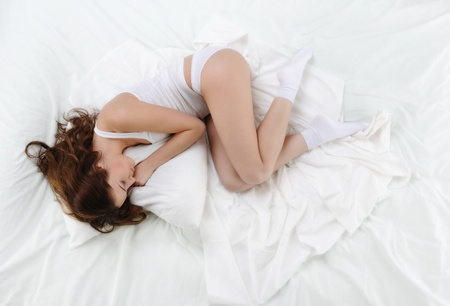 woman sleeping on the bed Stock Photo - 8954708