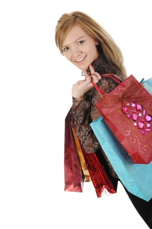 Pretty woman with shopping bags Stock Photo - 8954760