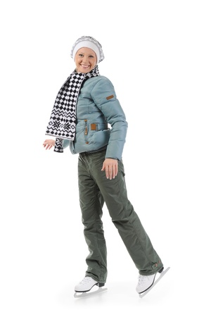 Girl with skates Stock Photo - 8954524