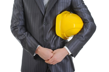 Businessman with construction helmet Stock Photo - 8954818
