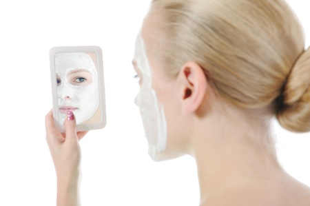 young woman making a mask Stock Photo - 8954719