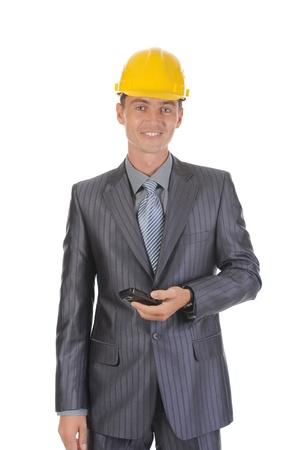 Businessman talking on the phone Stock Photo - 8954707