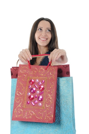 Beautiful girl with shopping bags Stock Photo - 8955465