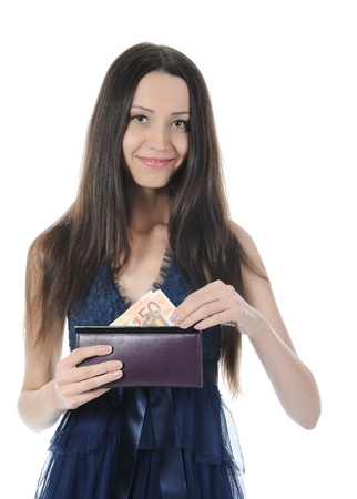 woman with money photo