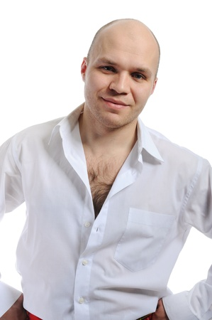 Man in a white shirt Stock Photo - 8955585