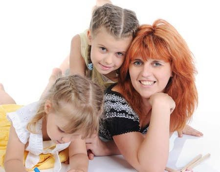 mother with her daughters. Stock Photo - 8955750