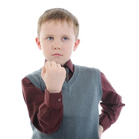 little bully threatens fist photo