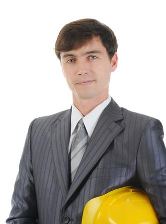 Businessman with construction helmet Stock Photo - 8955727