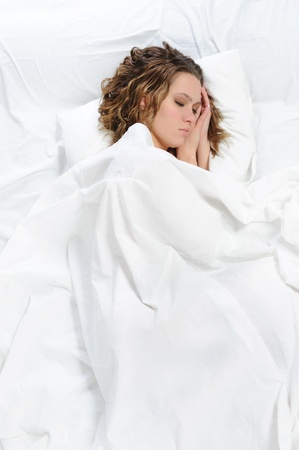 woman sleeping on the bed Stock Photo - 8955694
