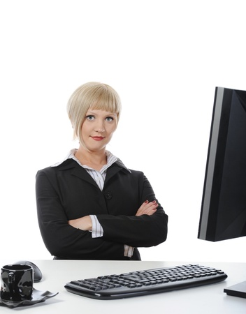 Beautiful office worker. Stock Photo - 9034751
