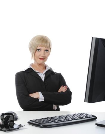 Beautiful office worker. Stock Photo - 9034751