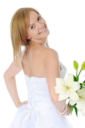 bride with a bouquet photo