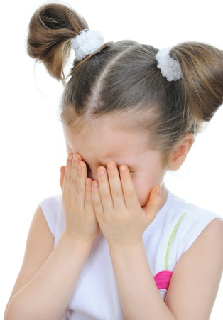 little girl crying photo