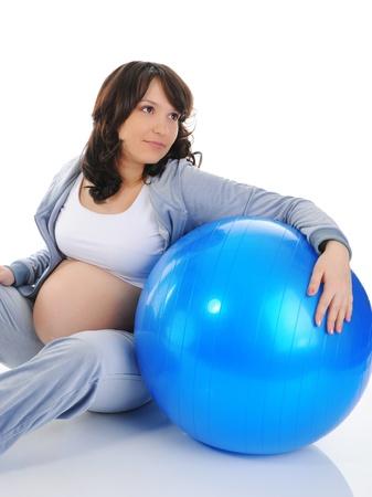Beautiful pregnant woman Stock Photo - 9125218
