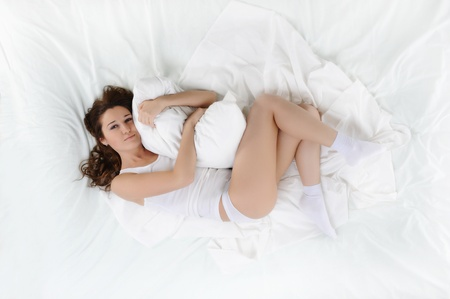woman sleeping on the bed Stock Photo - 9125220