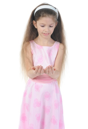 Funny girl in pink. Stock Photo - 9125381
