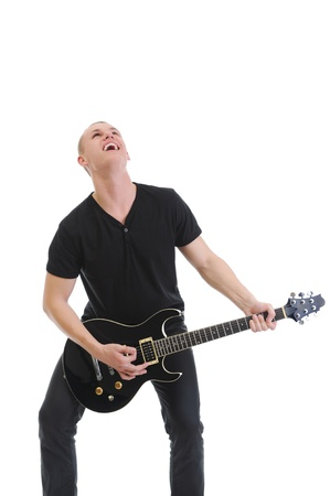 Portrait of a man with guitar Stock Photo - 9125309