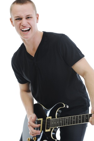 Portrait of a man with guitar Stock Photo - 9125423