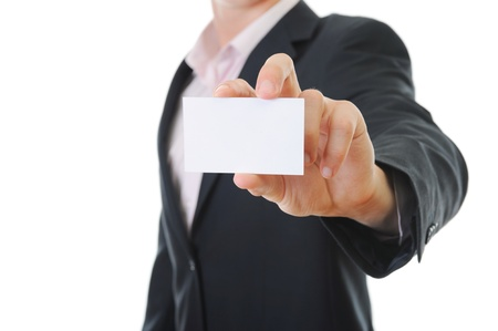 man handing a blank Stock Photo - 9126311