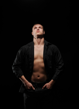 athletic young man photo