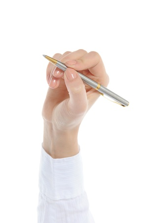 Pen in woman hand Stock Photo - 9126367