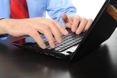 Hands on the laptop keyboard. Stock Photo - 9126384