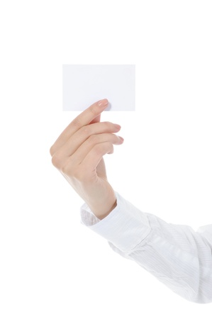 card blank in a hand Stock Photo - 9126365