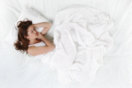 woman sleeping on the bed Stock Photo - 9125792