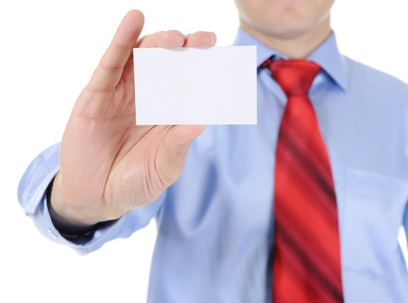 man handing a blank Stock Photo - 9125775