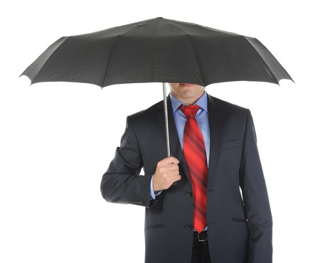 Image of a businessman with umbrella Stock Photo - 9125598