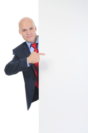young man with blank sheet Stock Photo - 9125777