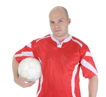Football player with the ball in his hands. Stock Photo - 9125779