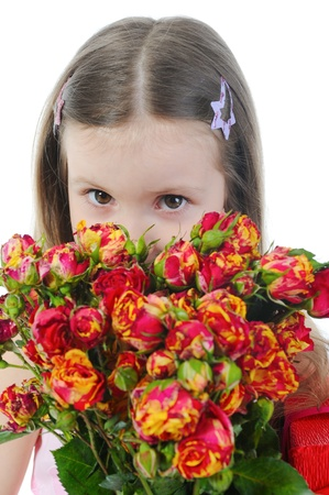 little girl with a rose. Stock Photo - 9125829